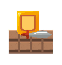 Pixel video game vector