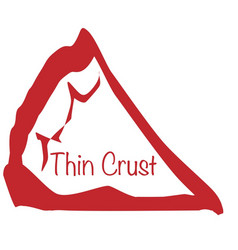 Pizza slice thin crust vector