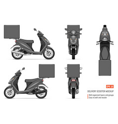 realistic motorbike vector image