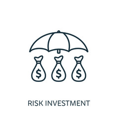 risk investment outline icon thin line concept vector image
