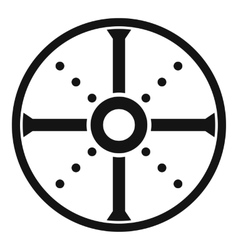 Round shield icon simple style vector