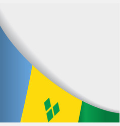 Saint vincent and the grenadines flag background vector