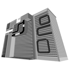 Sample hotel plaza vector