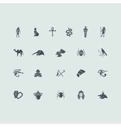 Set of Egypt icons vector image