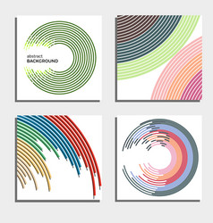 Set of four beautiful abstract backgrounds vector