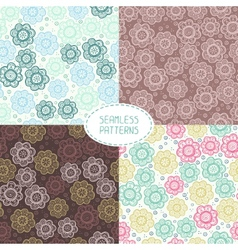 Set of seamless floral patterns Beautiful vector image