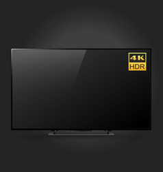smart led ultra hd tv series isolated on black vector image
