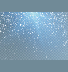 Snowfall pattern with blue shine falling vector