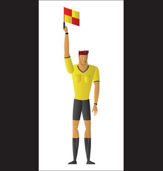 soccer referee signaled a offside vector image