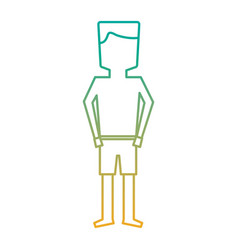 standing man cartoon with swimsuit vector image