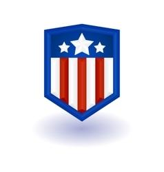 Super hero shield vector image