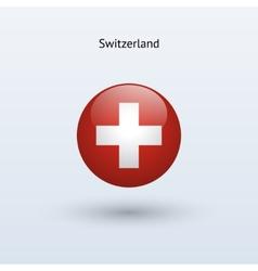 Switzerland round flag vector image