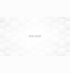 Technologic 3d hexagons white abstract background vector