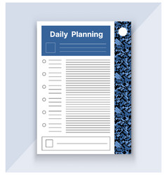 template daily plan vector image