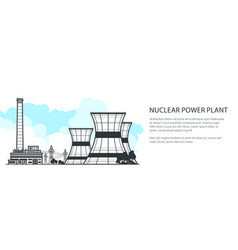 Thermal power station banner vector