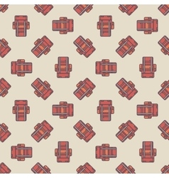 Touristic backpacks pattern vector