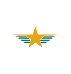 Wing star logo vector