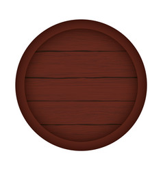 Wood barrel bottom brown dark vector