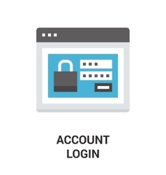account login icon vector image