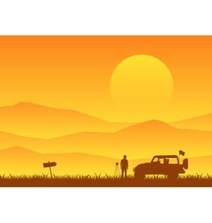 adventure on holiday vector image