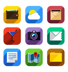 Flat App Icons Set 3 vector image vector image