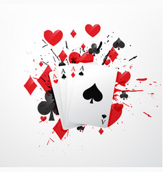 four aces poker card vector image