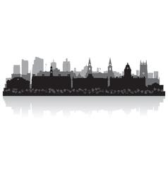 Leeds city skyline silhouette vector image