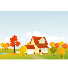 Nice house vector image vector image