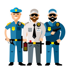policeman and security flat style colorful vector image