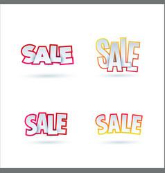 set of sale banner template design special offer vector image