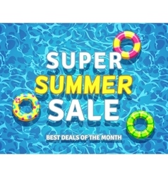 summer sale background with swimming pool vector image
