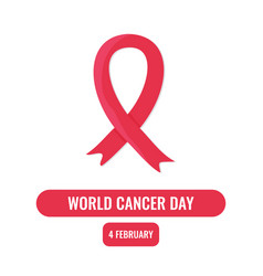 world cancer day concept vector image vector image