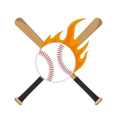 baseball equipment emblem sport vector image