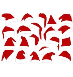 Christmas hats set vector