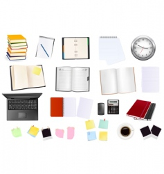 collection of business elements vector image