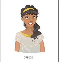 digital funny cartoon greek vector image