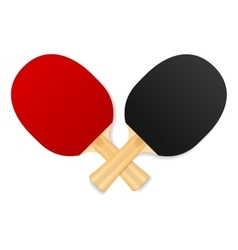 two crossed ping-pong rackets vector image vector image