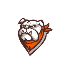 Angry Bulldog Wearing Neckerchief Retro vector image vector image