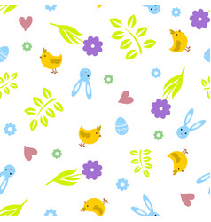 easter seamless pattern retro vintage design party vector image