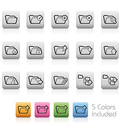 Folders Buttons vector image vector image