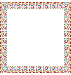 Frame of colorful feet vector image