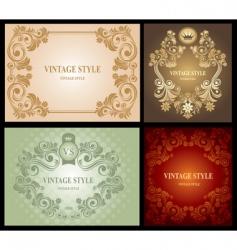 set of vintage floral frame vector image vector image