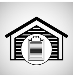 warehouse building check list report icon vector image