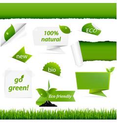 ecology green set vector image vector image