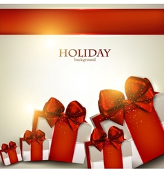 Elegant Christmas gifts background vector image vector image