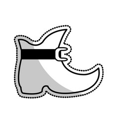 elf like boot cartoon icon image vector image vector image