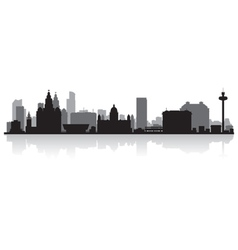 Liverpool city skyline silhouette vector image vector image