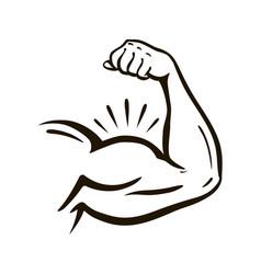 Power hand muscular arm bicep gym wrestling vector