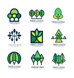 tree logo original design set of vector image vector image