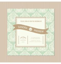 Wedding vintage card vector